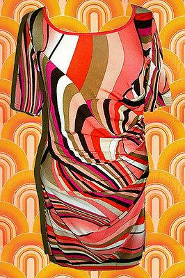 71✪ Psychedelic Twiggy Hippie Twggy Mini Kleid Kostüm 60er 70er Jahre - Twiggy Kostüm