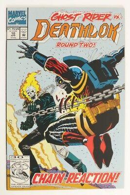 ESZ6918. DEATHLOK #10 Marvel Comics 9.2 NM (1992) Versus GHOST RIDER '