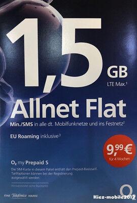 o2 Loop Prepaid Handy SIM Karte mit 1,5GB Internet Flat + Allnet + SMS + EU
