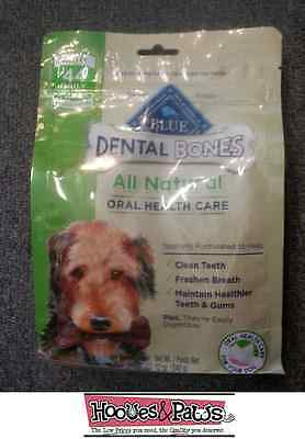 Blue Buffalo Mini Blue Bones Dog Dental Chews 12oz Treats Healthy Natural USA