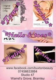 Hair nails tans & beauty