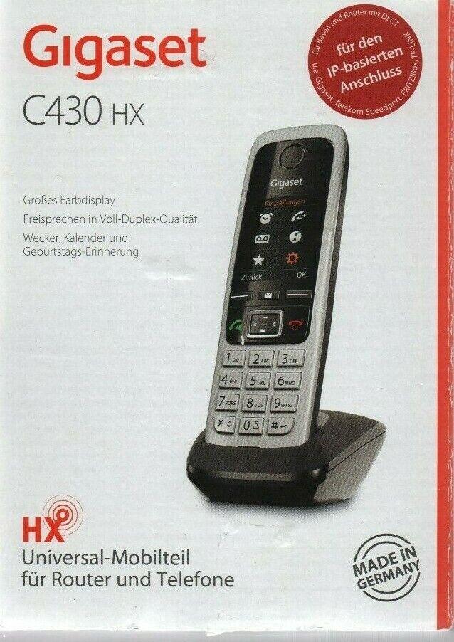Gigaset C430HX DECT Schnurlostelefon, Festnetztelefon, Analog, ISDN, VoIP