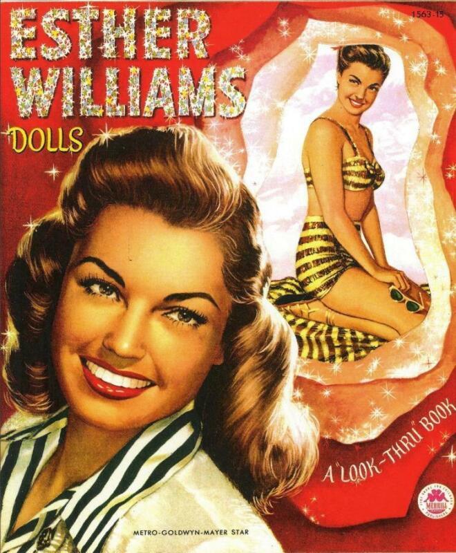 VINTAGE UNCUT 1950 ESTHER WILLIAMS PAPER DOLLS~RARE & NOSTALGIC~#1 REPRODUCTION!