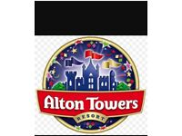 1x Alton towers ticket 6th October