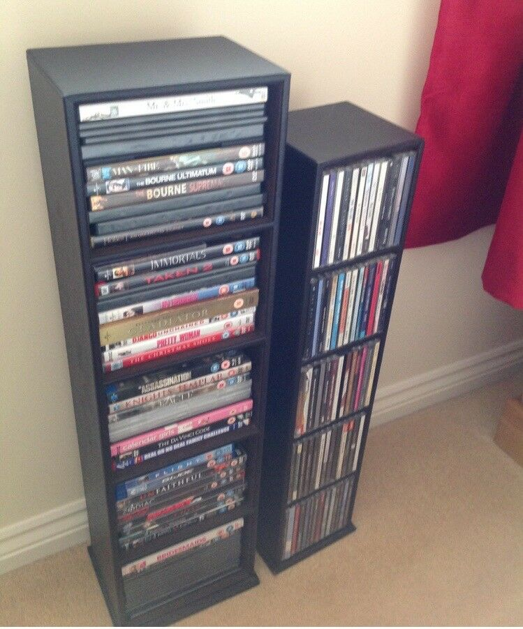 DVD and cd storage