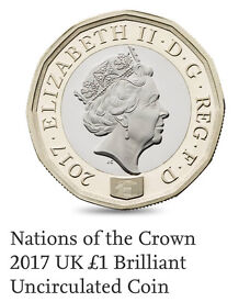 2017 UK The new 12-sided £1 coin, year-dated 2017 to mark this historic minting event