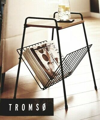 Small Side Table Magazine Rack Shelf Wooden Coffee/Lamp/End Storage Stand Table