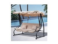 Outsunny garden swing chair 3 seater patio