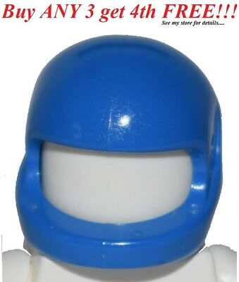 ☀️Lego Minifig Blue Racing Space Race Car Driver Helmet Headgear HELM MINIFIGURE for sale  Shipping to India