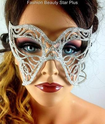 Crystal Butterfly Masquerade Mask - AB or Clear - Butterfly Masquerade Mask