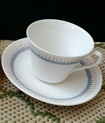 Vintage Trio Rorstrand Sweden Blue Pattern Cup and Saucer - More available