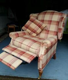 Laura Ashley Southwold fabric recliner chair.