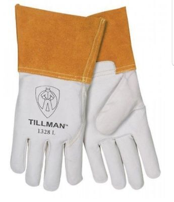Tillman 1328 Top Grain Goatskin Tig Welding Gloves Extra Large 4 Cuff Safety