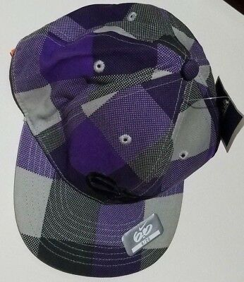 cf5c8c75 Boys Nike 6.0 Purple Gray Plaid 100% Cotton Fitted Ball Cap Hat Size 8-20