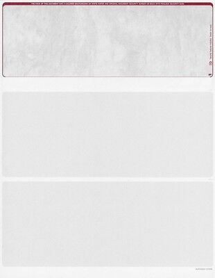 Blank Check Stock - 500 Blank Security Check Paper Stock - Checks on Top (Stone Burgundy)
