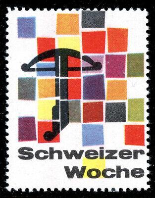 """Switzerland Poster Stamp - 1957 """"Swiss Week"""" - German Text"""