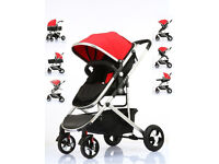 3 in 1 fly kids portable baby stroller and pram BRAND NEW BOXED.