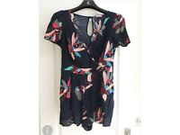 Size 8 Navy Floral Playsuit