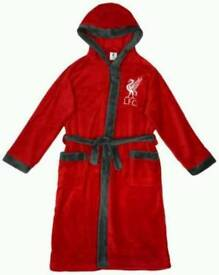 Boys Liverpool hooded dressing gown
