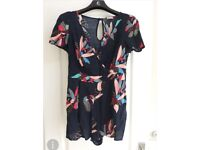 Lovely Navy Floral Playsuit Size 8