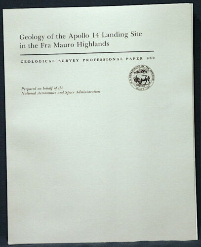 USGS APOLLO 14 FRA MAURO HIGHLANDS Geologic Report 1977 With ALL MAPS AND PANOS