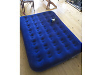 Double inflatable mattress with electric inflating pump.