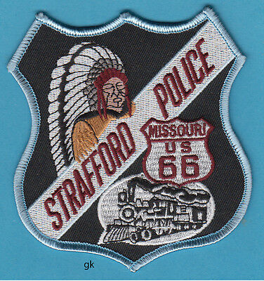 STRAFFORD MISSOURI POLICE SHOULDER PATCH Route 66 train Indian chief