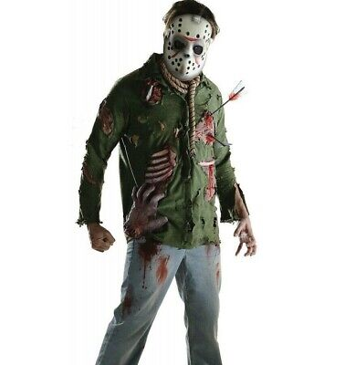 Jason Voorhees Costume Adult Mens Friday the 13th Horror Scary Killer