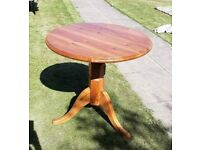 Limited Edition Handmade Round Solid Wood Table