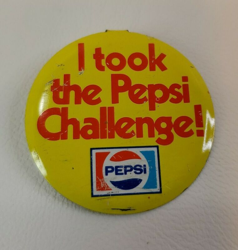 """""""I took the Pepsi Challenge!"""" tab button - pin - badge Used"""
