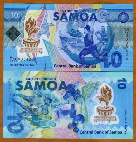 Samoa, 10 Tala, 2019,  P-New, POLYMER, UNC > Commemorative