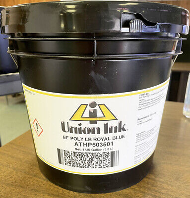 Union Ink Athletic Plastisol Ink-poly Lo Bleed Royal Blue - Gallon Athp5035g