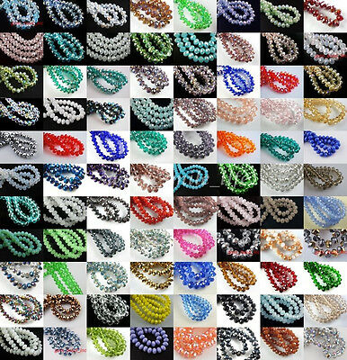 Lot Glass 5040# Crystal Faceted Rondelle Spacer Loose Beads - 5040 Spacer