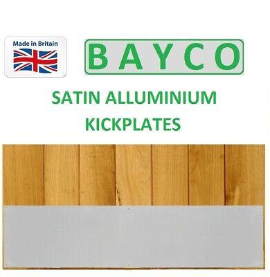 KICK PLATE / DOOR BOTTOM PLATE WITH FIXINGS FOR TIMBER DOOR SATIN ALUMINIUM Aluminum Door Kick Plate