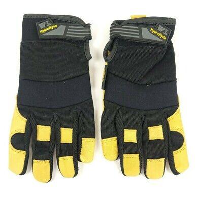 Wells Lamont Hydrahyde Leather Work Gloves Goatskin Water Resistant Sz Largel