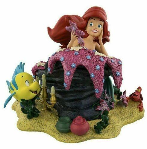 Art of Disney Parks Ariel Friends Flounder Sebastian Figurine Lesinski New 2018