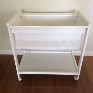 Childcare white wooden bassinet / cradle / baby bed Victor Harbor Victor Harbor Area Preview