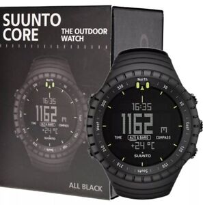 Suunto Core All Black Military Outdoor Sports Watch BRAND NEW SS014279010
