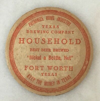 Texas Brewing Company pre-pro Coaster, Fort Worth Texas.