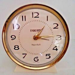 Equity Superbell Mechanical Alarm Clock-Desk / Mantel Clock-Working
