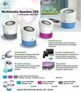 Logitech Multimedia Speaker Z50 in White Magenta North Lakes Pine Rivers Area Preview