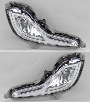 Euro Clear Fog Lights w/ Bulbs FITS Hyundai Accent 12-14 RH LH PAIR Kit