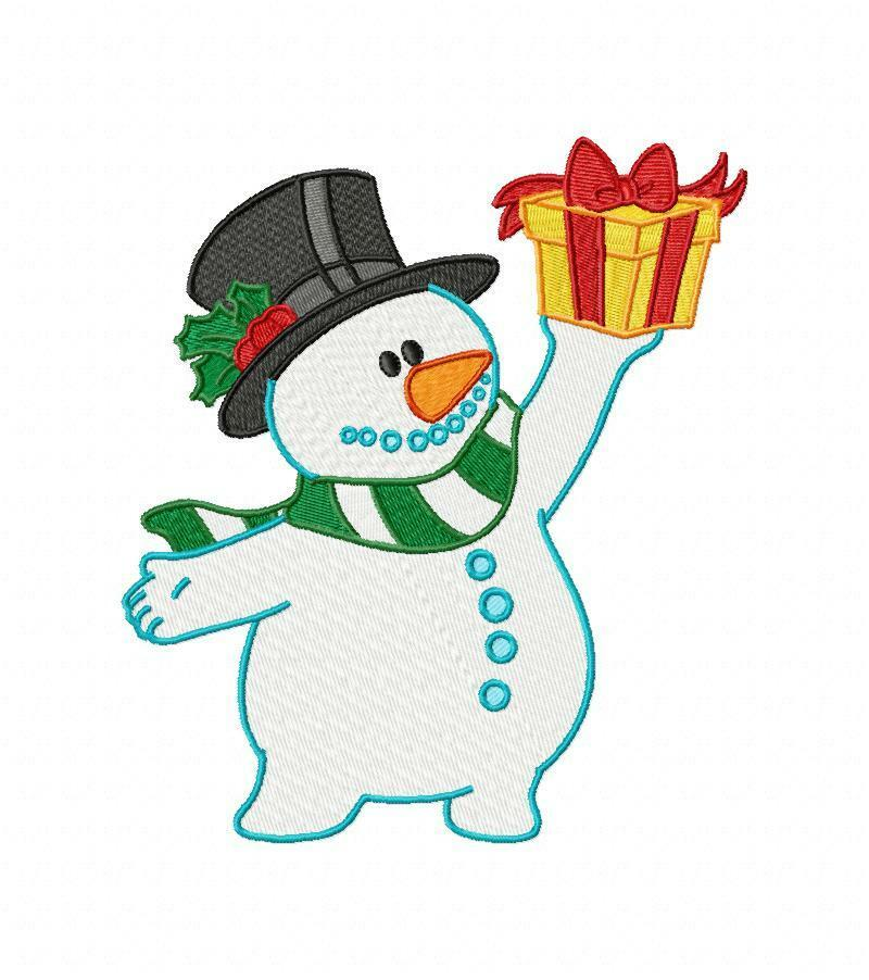 snowman machine embroidery designs