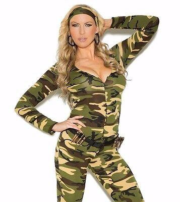 3X/4X Women Plus Halloween Army Camouflage Military Romper (3x 4x Halloween-kostüme)