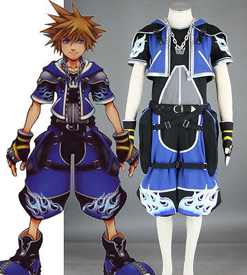 Kingdom Hearts Roxas Sora Cosplay costume Kostüm Kleidung set top neu blau - Roxas Kingdom Hearts Kostüm