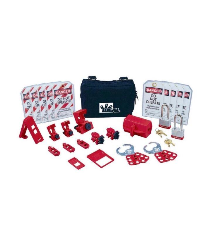 Ideal 44-971 Standard Lockout/Tagout Kit NEW