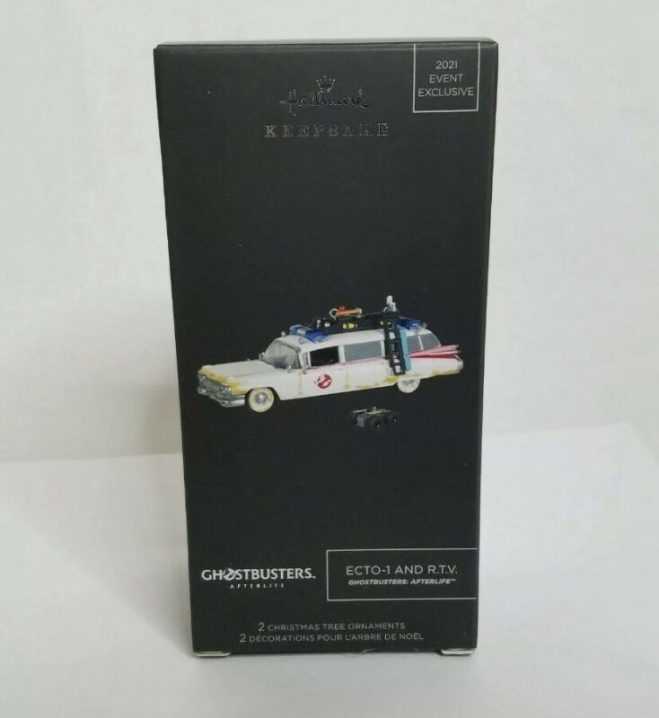 NEW SDCC 2021 Hallmark Exclusive Ghostbusters ECTO-1 and RTV Keepsake Ornament
