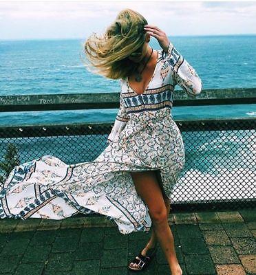Arnhem Sugar Maxi Dress in Aster Size Medium ~ Boho Gypsy Beach Wedding Festival