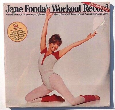Sealed JANE FONDA Workout Records New & Improved LP COLUMBIA RECORDS US 1981