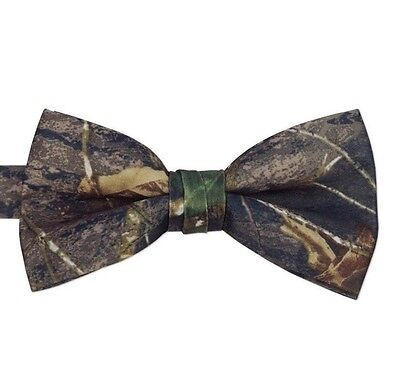 NEW Men's Real Mossy Oak Bow Tie BREAK UP Camo Camouflage Banded Adjustable - Camo Bow Tie